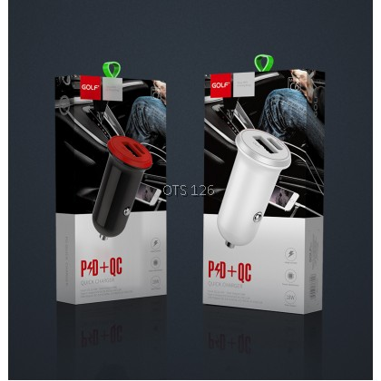 GOLF Car Charger Quick Charge USB + PD Charge for GF-C7